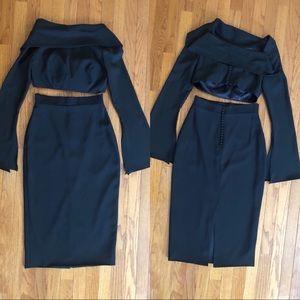 Formal 2 piece midi skirt/ top😍